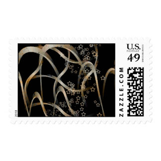 Curves and stars postage stamp