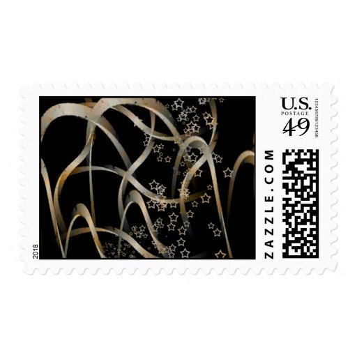 Curves and stars stamp