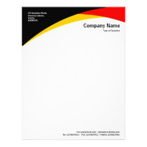 Curves - Black, Amber & Red Letterhead