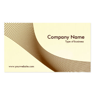 Curves - Brown on White (Eggshell) Business Card