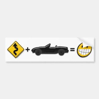 Curves + MX5 = Fun bumper sticker Car Bumper Sticker