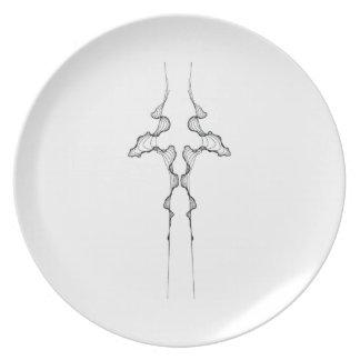 Curves No. 4 on a Melamine Plate