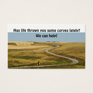 Curves of Life on a Rural Winding Road Business Card