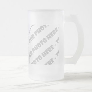 Curves Photo Frosted Stein - Create Your Own Mugs