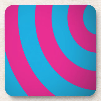 Curves Pink & Turquoise Beverage Coaster