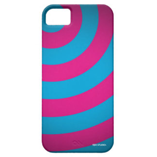 Curves Pink & Turquoise Case iPhone 5 Cover