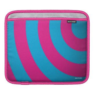 Curves Pink & Turquoise iPad Sleeve