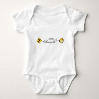 Curves, Subaru, equals fun Baby Bodysuit
