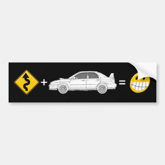 Curves, Subaru, equals fun Bumper Sticker