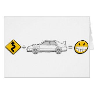 Curves, Subaru, equals fun Greeting Cards