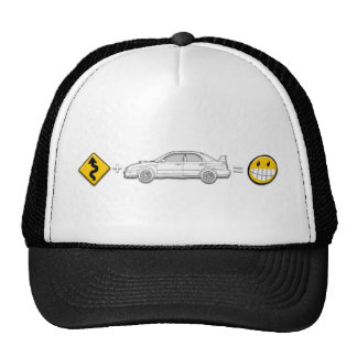 Curves, Subaru, equals fun Hat