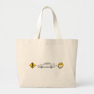 Curves, Subaru, equals fun Large Tote Bag