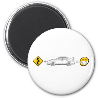 Curves, Subaru, equals fun Refrigerator Magnets