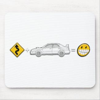Curves, Subaru, equals fun Mouse Pad