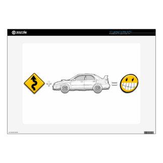 Curves, Subaru, equals fun Laptop Decal