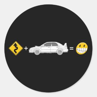 Curves, Subaru, equals fun Sticker