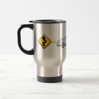 Curves, Subaru, equals fun Travel Mug