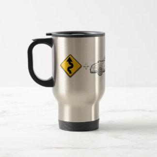 Curves, Subaru, equals fun Travel Mug