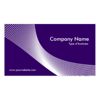 Curves - White on Deep Purple 330066 Business Cards