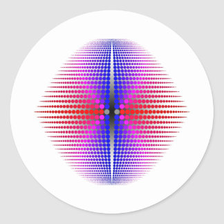 Curvey Order Classic Round Sticker