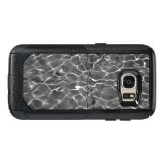 Curving Light Patterns On Water: Black & White OtterBox Samsung Galaxy S7 Case