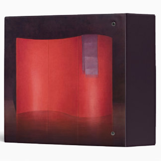 Curving red lacquer screen binder