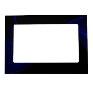 Curving Ribbon blue Magnetic Picture Frame