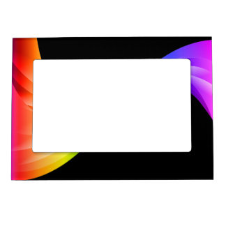 Curving Ribbon rainbow Magnetic Photo Frame