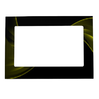 Curving Ribbon yellow Magnetic Frame