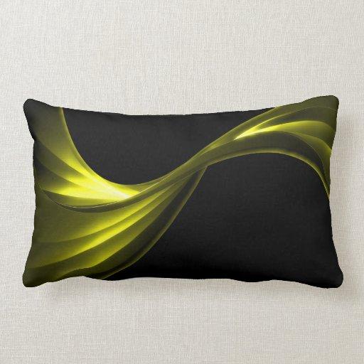 Curving Ribbon yellow Pillow