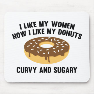 Curvy And Sugary Mouse Pad