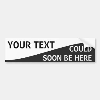 Curvy Black and White Template Bumper Sticker