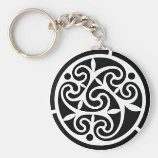 Curvy Black & White Key Chain