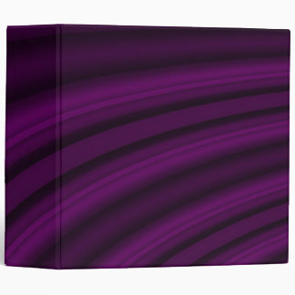 Curvy-  Dark Purple 3 Ring Binder