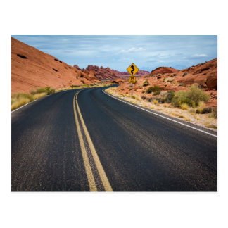 Curvy Desert Highway Postcard