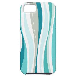 Curvy Lines aqua designer iPhone 5 Cases