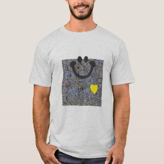 Curvy Lines Batik Blue Smile T-shirt