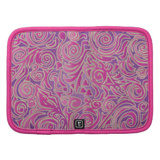 Curvy Lines Batik Pink Folio Planner