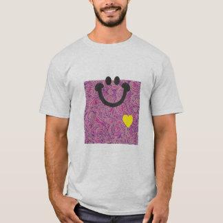 Curvy Lines Batik Pink Smile T-shirt
