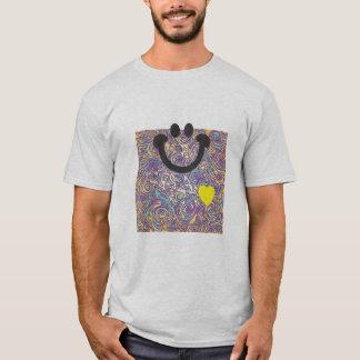Curvy Lines Batik Purple Smile T-shirt