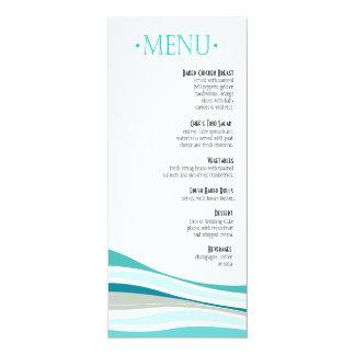 Curvy Lines Dinner Menu aqua Card