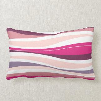 Curvy Lines fuschia designer Pillow