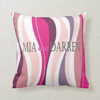 Curvy Lines fuschia designer Pillows