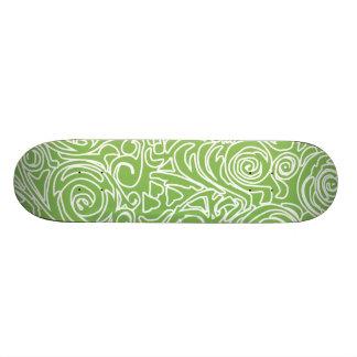 Curvy Lines Green Skateboard