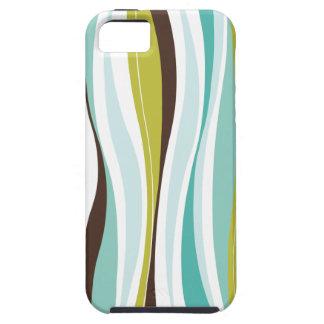 Curvy Lines teal olive designer iPhone 5 Case