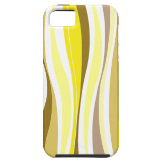 Curvy Lines yellow designer iPhone SE/5/5s Case