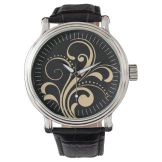 Curvy Modern Swirl (beige) Watch