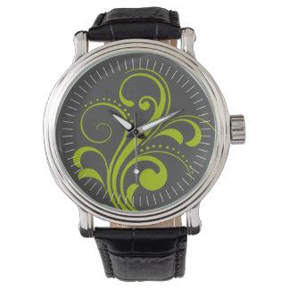 Curvy Modern Swirl (olive) Watches