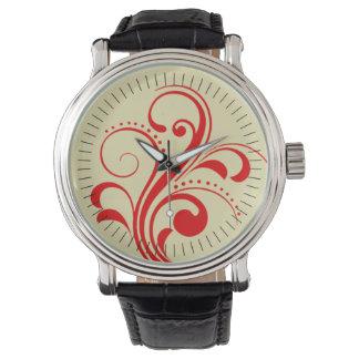 Curvy Modern Swirl (red) Watch