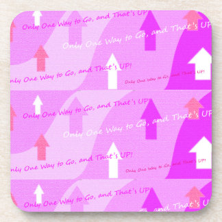 Curvy Pink Power Art Coasters